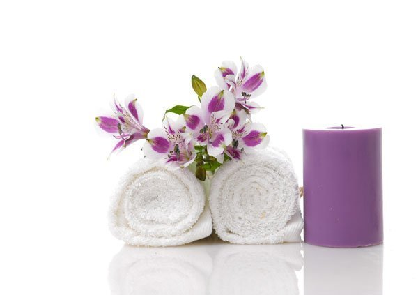 Ocean Breeze Prosthodontics candle and towel